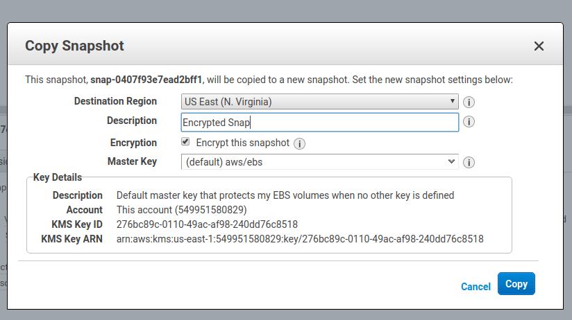 encrypt EBS 7
