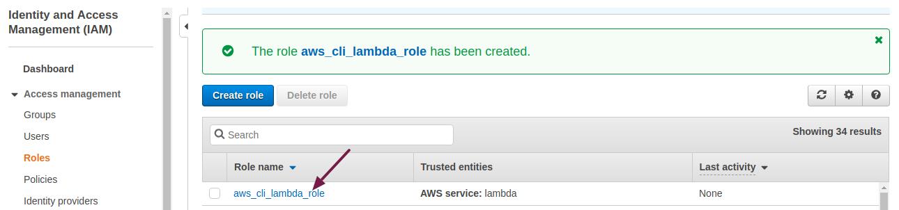 AWS CLI Lambda 5